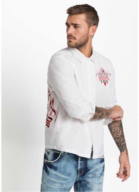 L aring ng auml rmad skjorta med stort tryck ... 767ad0eeb4996