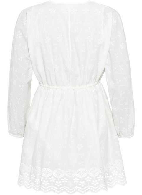 stora vita klänningar