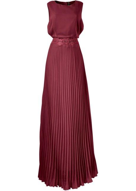 feaac1655a3e Plisserad klänning mörkröd - BODYFLIRT boutique beställa online ...