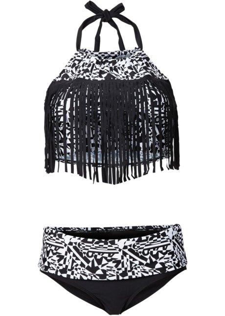 Bikini med fransar (2 delar) svart vit - RAINBOW köp online - bonprix.se d790b9df6492d