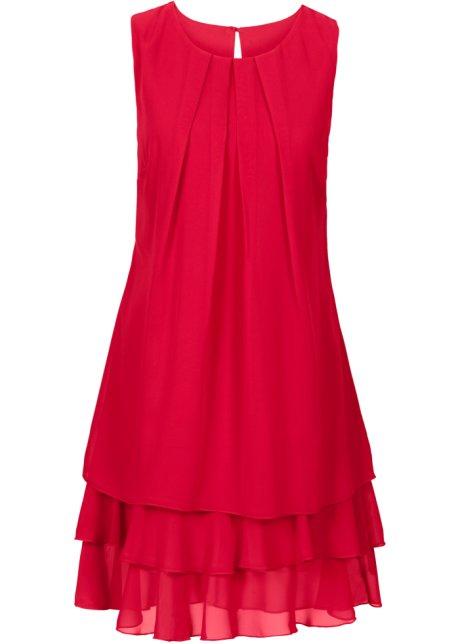 Chiffongklänning röd - Dam - BODYFLIRT - bonprix.se 8d8c9dea76e79