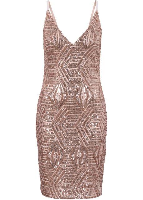Paljettklänning rosenkvarts - BODYFLIRT boutique beställa online ... f989bc0815a42