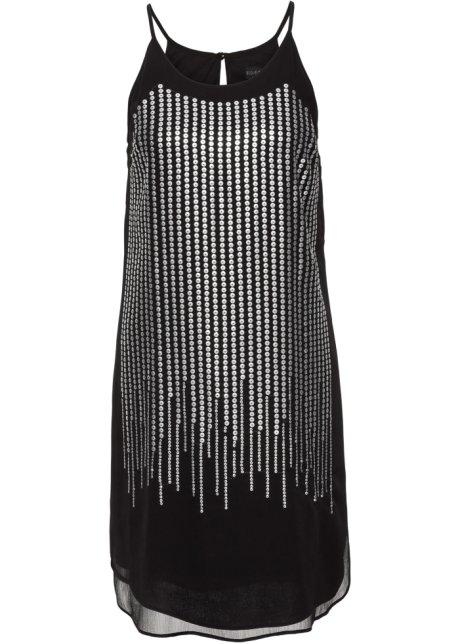 Klänning med paljetter svart silverfärgad - BODYFLIRT boutique köp ... 316d58dd9ccd9