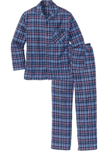 Flanellpyjamas blå a17d6cb240ad0