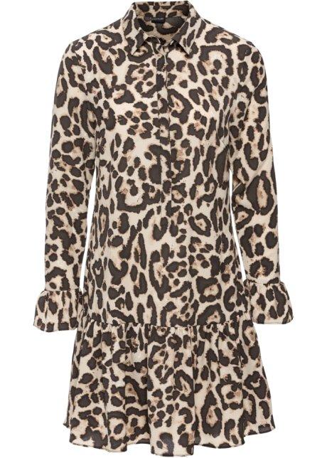 Leopardmönstrad klänning beige e2d2dd1764986