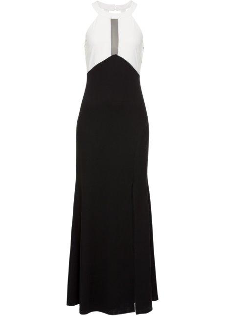 Aftonklänning svart vit - BODYFLIRT boutique - bonprix.se 072671ce1be13