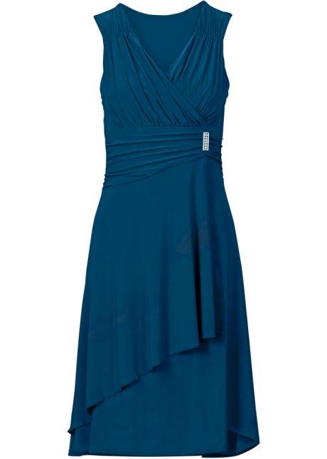 c9568fcd7a61 Jerseyklänning petrolblå - Dam - BODYFLIRT - bonprix.se