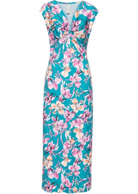 dc0378924340 Blommönstrad klänning blå/rosa, blommig - BODYFLIRT boutique köp ...