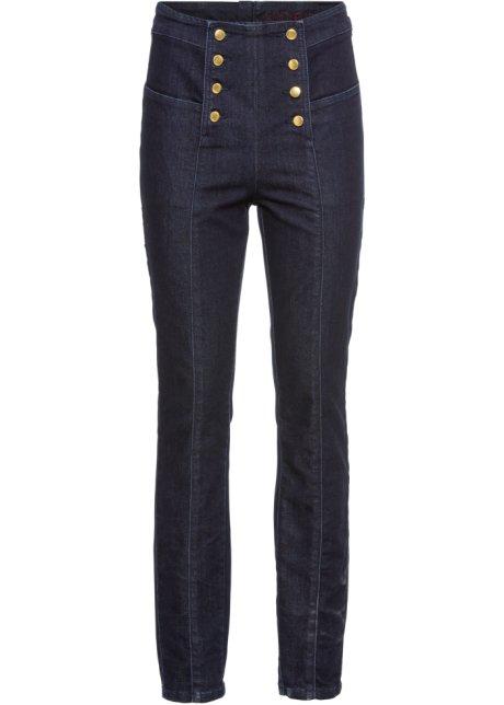 Jeans med hög midja dark denim - Dam - bonprix.se 2e364288d30dc