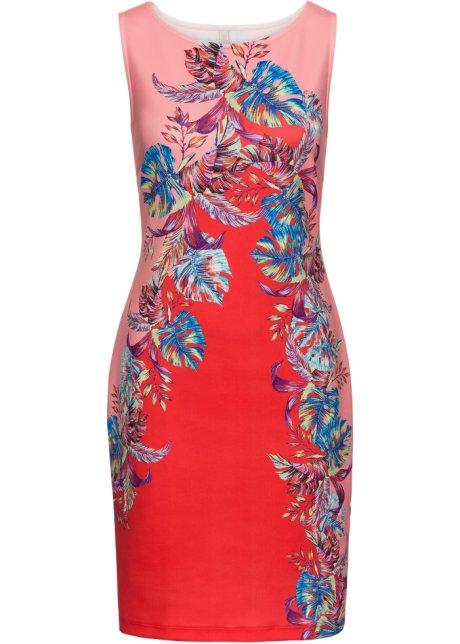 Blommig klänning röd pink blå 78ddf3cfa6407