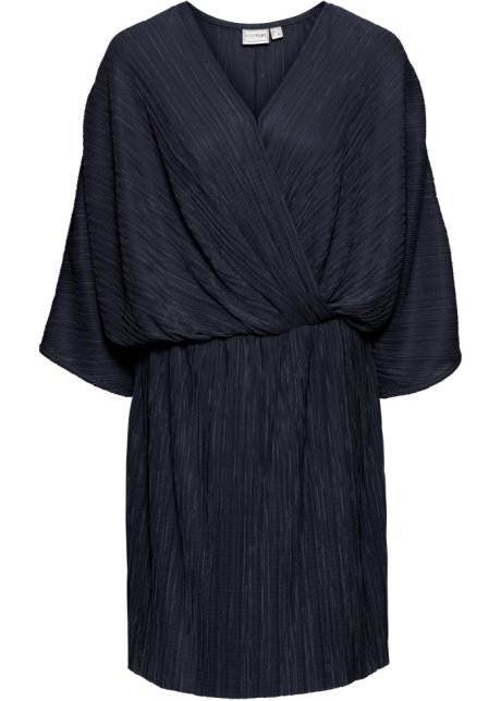 4a4c43210e62 Plisserad klänning mörkblå - BODYFLIRT beställa online - bonprix.se