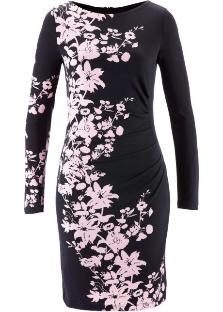 Figurformande trikåklänning svart ljusrosa - bpc selection premium ... 1cff9d5988815