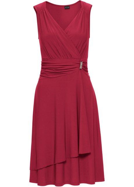8db00ddbbb88 Jerseyklänning mörkröd - BODYFLIRT köp online - bonprix.se
