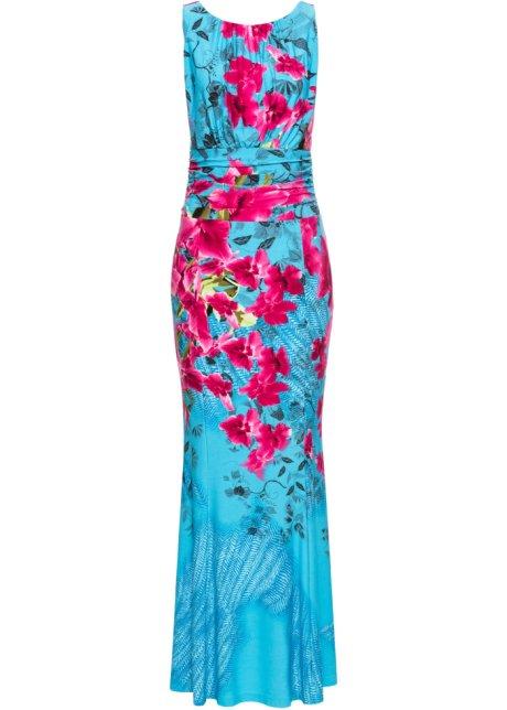 bce2c3597547 Klänning med blommönster blå, blommig - BODYFLIRT boutique beställa ...