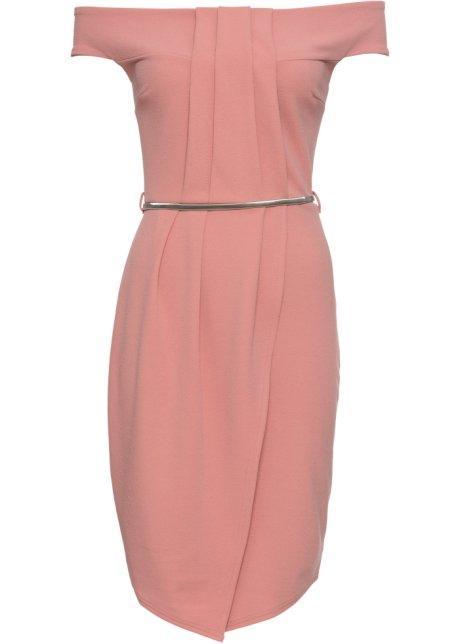 74353911ba04 Klänning med skärp rosa - Dam - BODYFLIRT boutique - bonprix.se