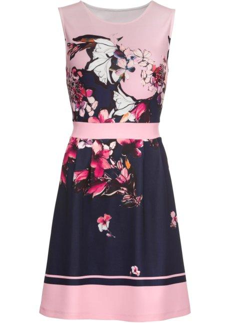 2d5ceff65338 Blommönstrad klänning rosa, med tryck - BODYFLIRT köp online ...