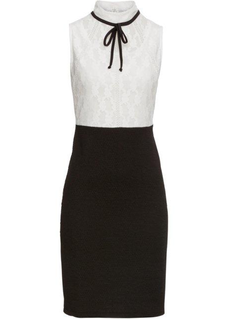 7c15502e3cd1 Klänning svart/vit - BODYFLIRT boutique köp online - bonprix.se