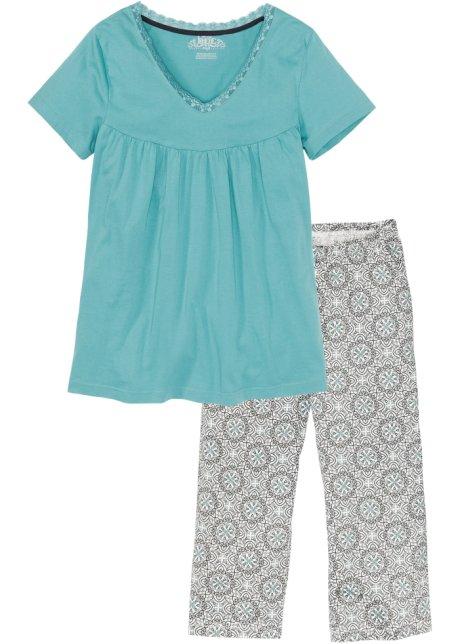 0d4036192858 Pyjamas med capribyxor skiffergrå, mönstrad - Dam - bonprix.se