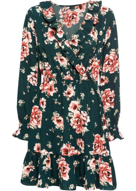 Blommig maxiklänning med halvlång ärm, ELISABETH Dress