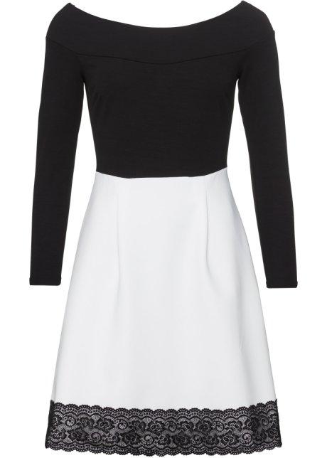 svart och vit klänning