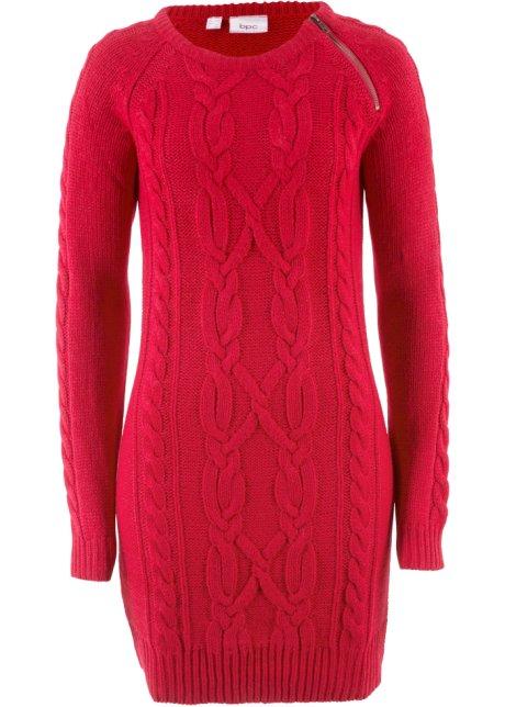 53abde74c8f3 Stickad klänning röd - Dam - bpc bonprix collection - bonprix.se