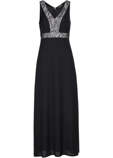 Lång klänning svart kiselbeige - bpc selection premium köp online ... 0116f00edc96c