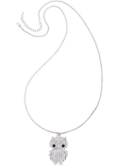 Halsband Uggla silverfärgad blå - bpc bonprix collection beställa ... 5ccbe00575485
