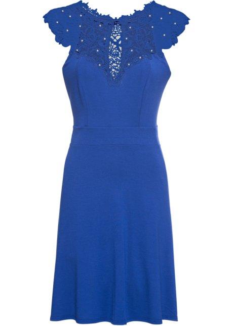 Klänning med spets blå - Dam - bonprix.se 4a643ddd95ee5