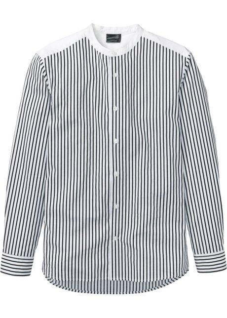 Långärmad randig skjorta vit svart 383c2c4828442