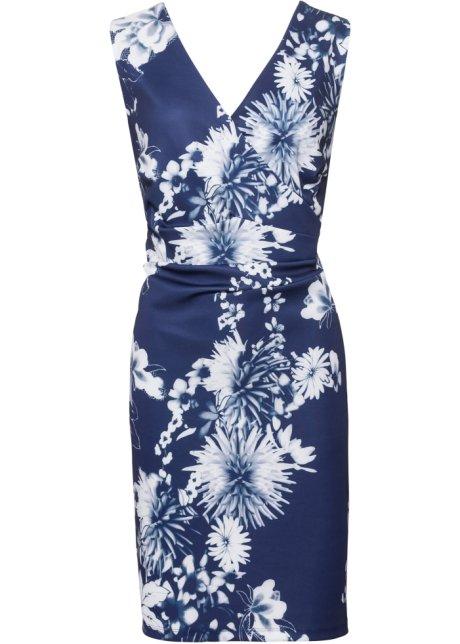 09727387b37b Klänning med blommönster blå/vit - BODYFLIRT boutique köp online ...