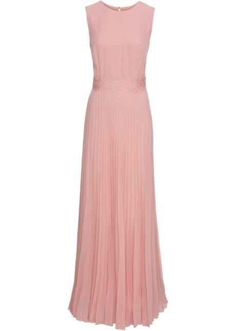 Plisserad klänning persika - BODYFLIRT boutique - bonprix.se 12a67bf31fc4a