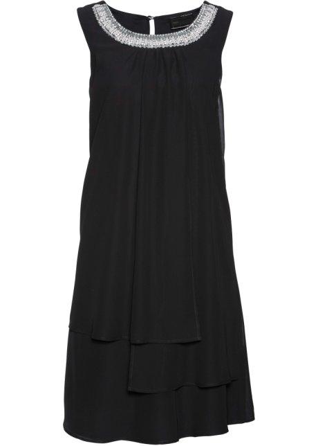 Klänning med applikation svart - bpc selection premium köp online ... 4d4a61188090a