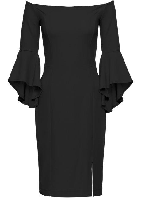 f11e014f99b7 Klänning med trumpetärmar svart - BODYFLIRT boutique köp online ...