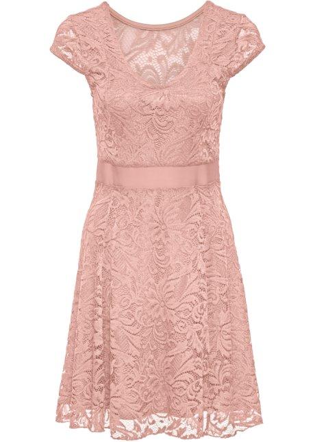 32bf61a137c8 Jerseyklänning med spets gammaldags rosa - BODYFLIRT köp online ...