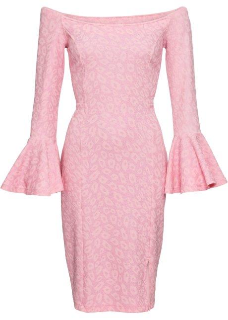 bafdcb3cf7fe Leopardmönstrad klänning med glitter rosa, leopardmönstrad ...