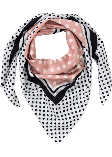 Prickig scarf vit puder svart fe532e0bb3a53