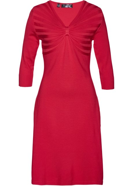 draperad klänning röd bronprix
