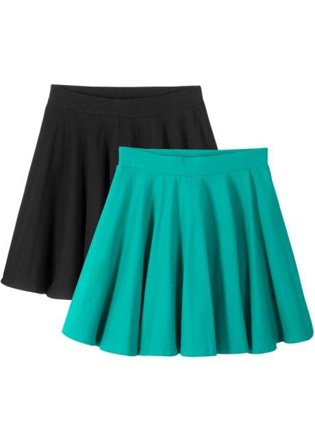 0c4f88945b6c Kjol (2-pack) smaragdgrön/svart - Barn - bpc bonprix collection ...