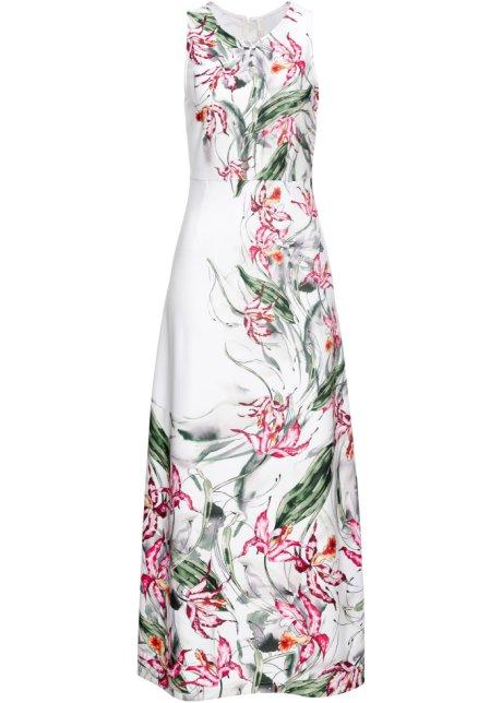 Blommönstrad klänning vit, blommig 94932695