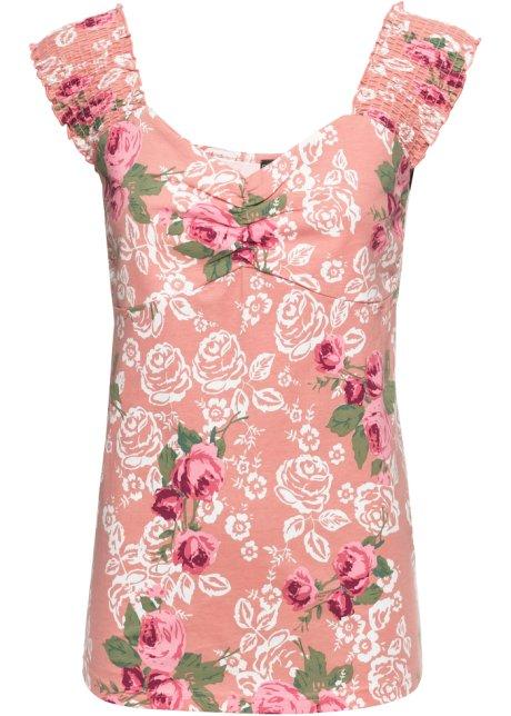 272707bcdbb3 Topp med blommor rosa, blommig - Dam - RAINBOW - bonprix.se