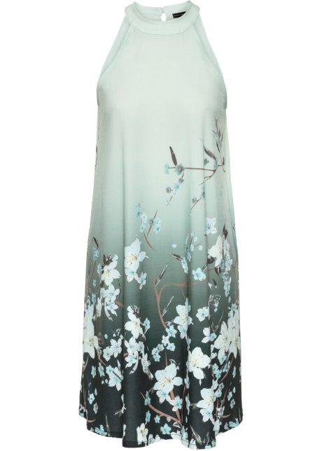 Lång omlottklänning LjusgrönMönstrad DAM   H&M SE