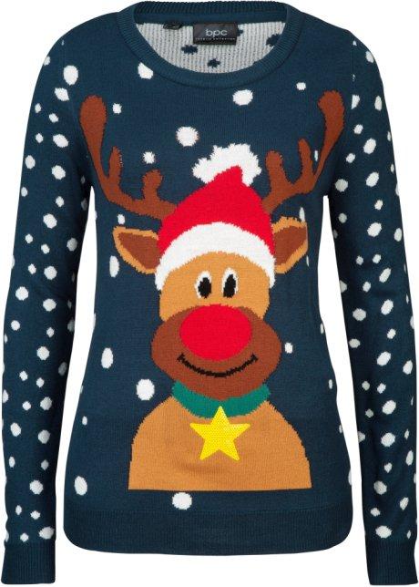 stickad tröja med julmotiv