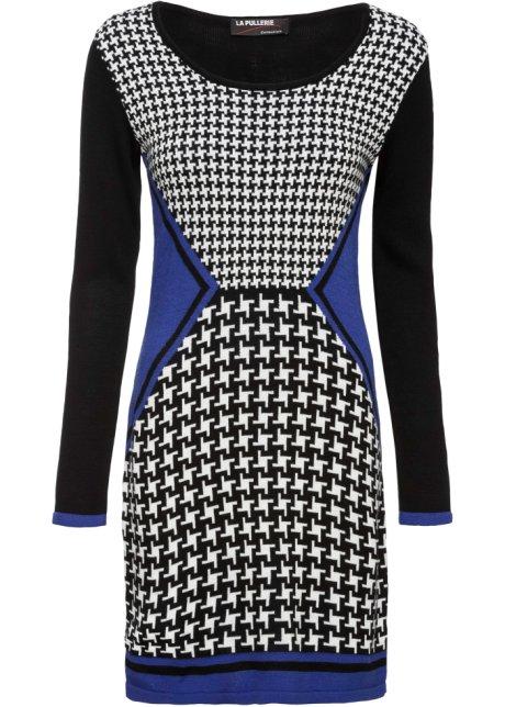 Mönstrad klänning svartvit, mönstrad BODYFLIRT boutique