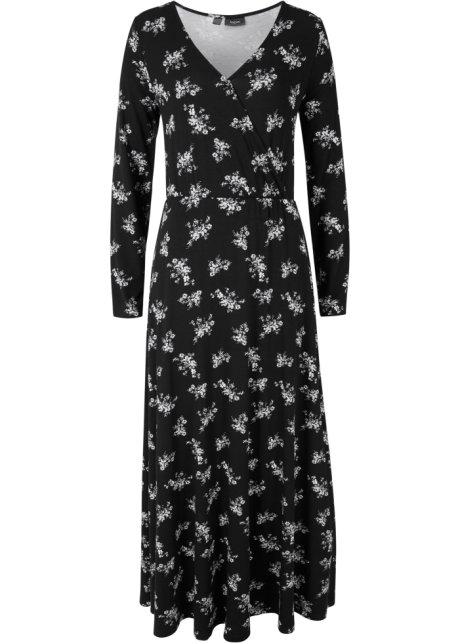 svart långärmad långklänning