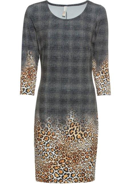 Klänning med skärp och boho mönster beige, mönstrad Dam