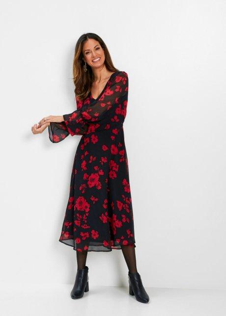 Stickad klänning röd bpc selection köp online bonprix.se