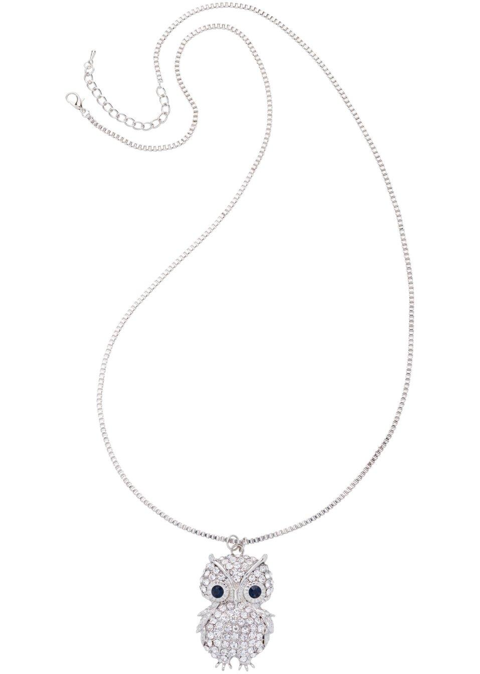 Halsband Uggla silverfärgad blå - bpc bonprix collection beställa online -  bonprix.se 6cd6eb7435791