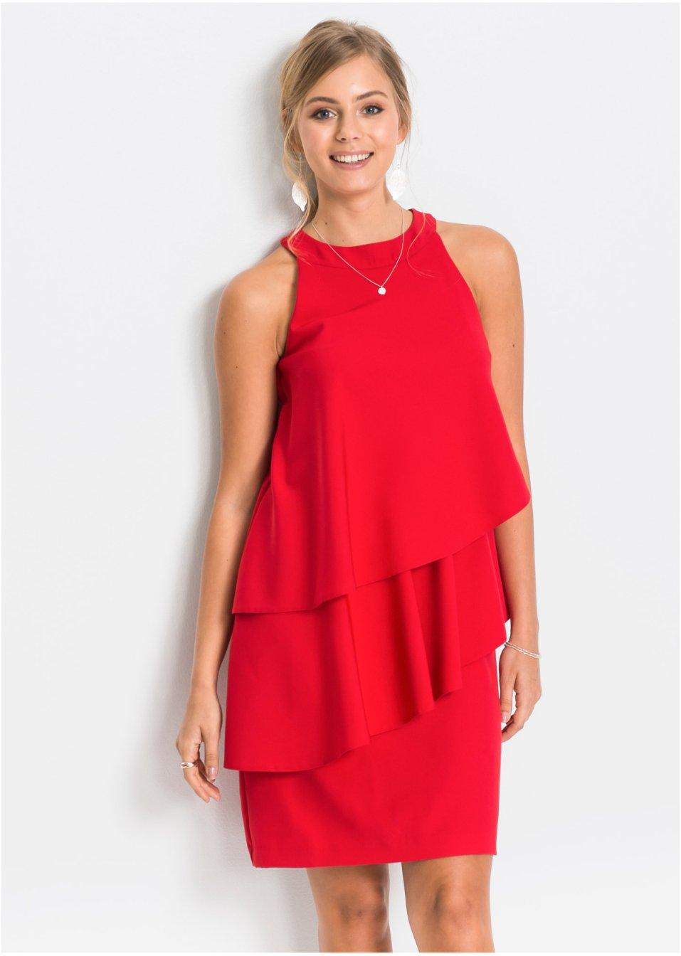 Klänning röd - RAINBOW beställa online - bonprix.se 935c83a93f4b6