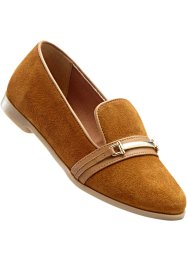 Skinnloafers, bpc selection, gråbrun
