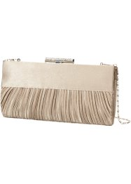 Clutch med rynk, bpc bonprix collection, ljus sand